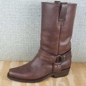 Men's AFRICAN BOOTS Leather Harness Western Boots